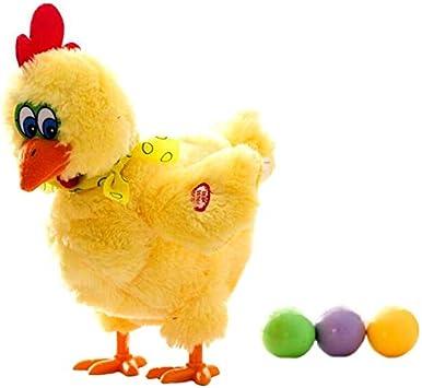 tianluo Juguete de Peluche 30cm Gallinas Gallinas Huevos De Gallina Locas Muñecas Cantando Y Bailando para Mascotas Juguetes De Peluche: Amazon.es: Juguetes y juegos