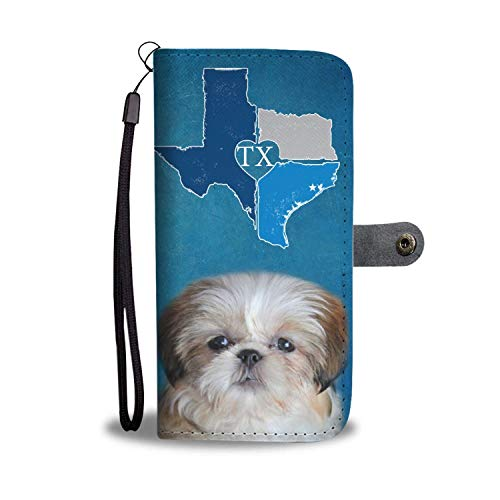 Paws With Attitude Cute Shih Tzu Print Wallet Case-TX State