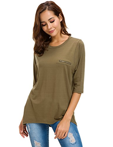 Nordicwinds Womens Cotton T-Shirt Half Sleeves Basic Loose Fit Crew Neck Tops