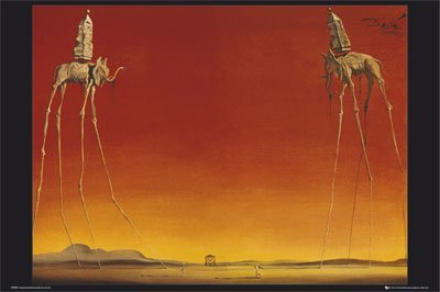 Les Elephants Dali - Salvador Dali Elephants 24x36 Poster Art Print Surreal