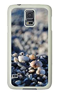 Rosesea Custom Personalized Pebble PC Hard Plastic Case for Samsung S5/Samsung Galaxy S5 Whtie