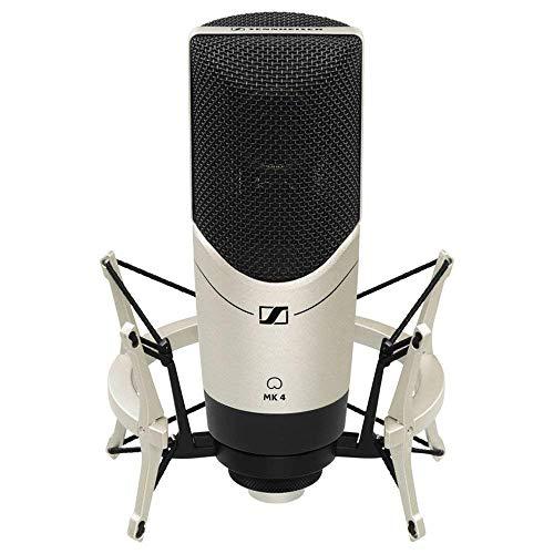 Sennheiser MK4 Set Cardioid Condenser Large Diaphragm Microphone With MKS4 Shockmount ()