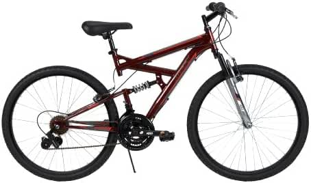 Huffy Bicycle Company Men's Dual Suspension DS-3 Bike, Dark Metallic Red, 26-Inch