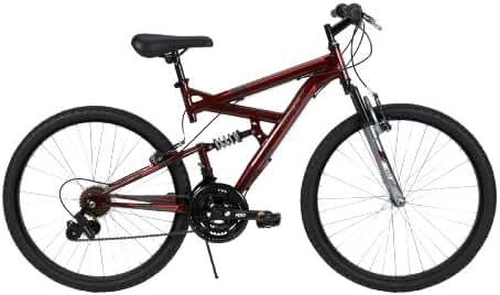 Huffy Bicycle Company Men's Dual Suspension DS-3 Bike, Dark Metallic Red, 26-Inch