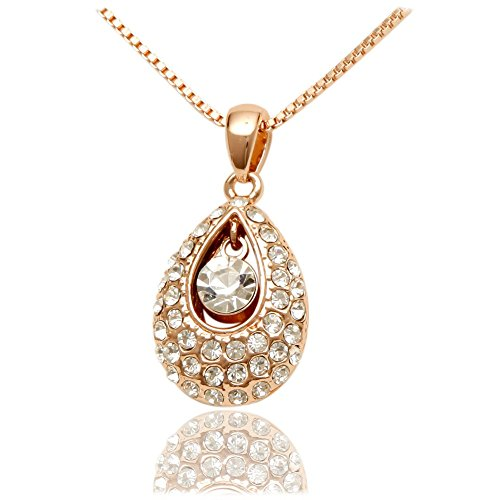 Women's Fashion Jewelry Rose Gold Plated Necklace With a Host of Beautiful Array of Sparkling - Glasses Coach Turquoise