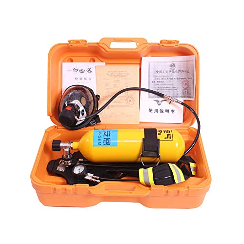 Positive Pressure Firefighting Air Respirator Self-help Self-contained Breathing Apparatus Set 5L/30Mpa (Empty Bottle)