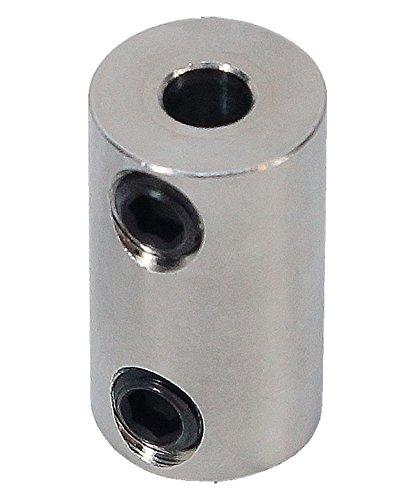 3/16 inch to 4mm Stainless Steel Set Screw Shaft Coupler ServoCity 625174