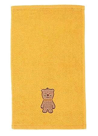 Sterntaler B/är Kinder//Baby Handtuch bestickt mit Namen in gelb SerieBen Kinderhandtuch personalisiert Junge M/ädchen