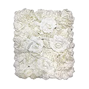 Blush Blooms Decorative Artificial Flower Panel - Flower Wall & Backdrop, Wedding, Bridal Shower, Baby Shower, and Event Decor 60