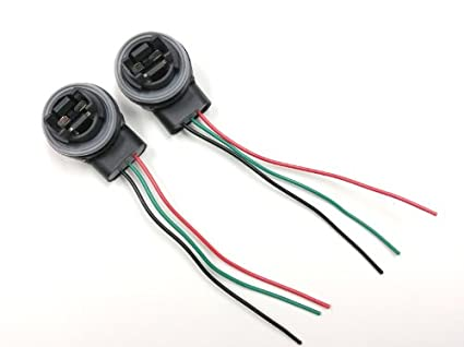 3157/4157 Bulb Socket Brake Turn Signal Light Harness Wire LED Pig Tail Plug