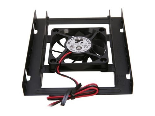 """iMBAPrice® Internal 2.5"""" SSD/HDD Mounting Kit for 3.5"""" Drive Bay w/60mm Cooling Fan"""