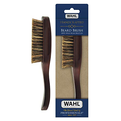 Wahl 100% Boar Bristle Brush Grooming & Styling Brush with Wood Handle for Beard, Mustache, Hair - Model 3347