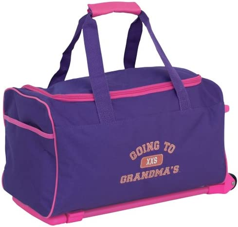 14c2d4a4b712 Mercury Going to Grandma's Wheeled Duffel Childrens Luggage, Small, Purple