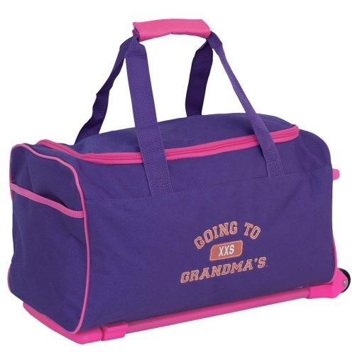 Mercury Going to Grandma's Wheeled Duffel Childrens Luggage, Small, Purple