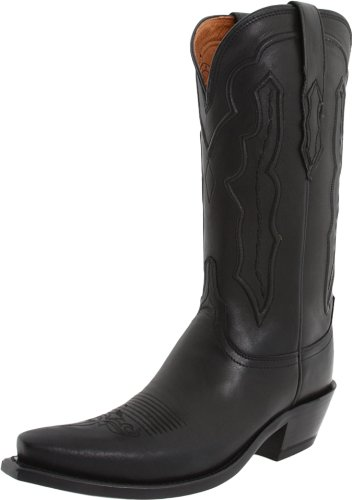 Lucchese Classics Women's Grace-BLK Ranch Hand Riding Boot, Black, 9.5 B US