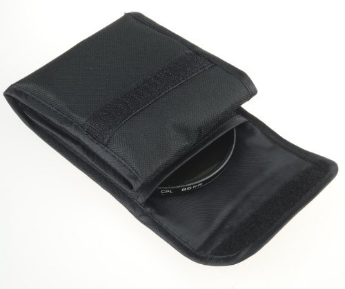 DSLRKIT Filter Wallet 3 Pcs Pocket Case Pouch Bag for Cokin P series 86mm Filters
