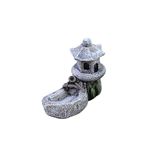 - Floralby Fairy Garden Ornament, Miniature Pool Tower Micro Landscape Bonsai Garden DIY Decor