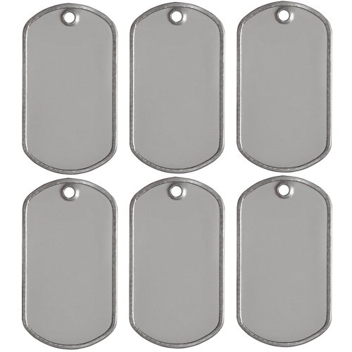 25 Blank Military Style Dog Tags