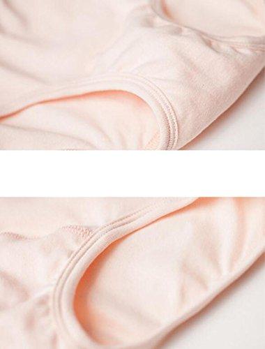 Mujeres Ropa Interior De Algodón Algodón Elástico De La Cintura Alta Versión Amplia De Ocio Escritos De Gran Confort [3 Instalados] A2