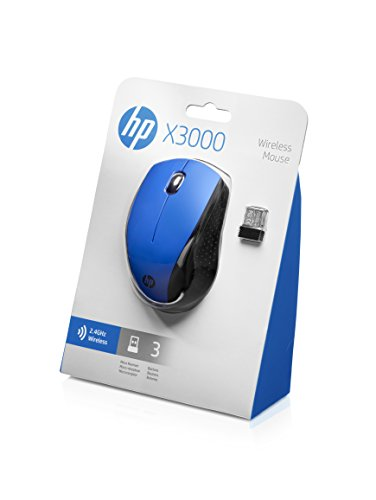 HP X3000 Wireless Mouse, Blue (K5D27AA#ABL) | Personal ...