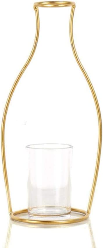 CBVG Nordic ins Style Creativo geométrico Tubo de ensayo de Metal decoración del hogar florero de Hierro Forjado Escritorio de Oficina, C
