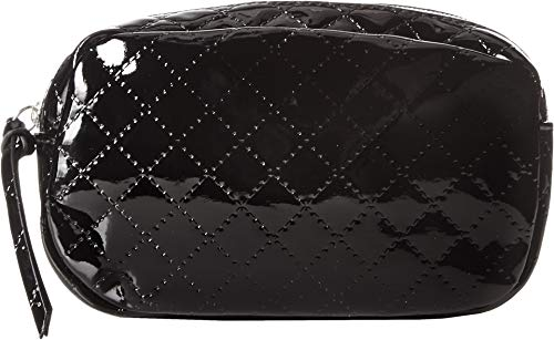 (T-Shirt & Jeans Women's Patent Quilted Belt Bag Black One Size)