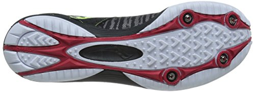 Saucony Men's Kilkenny XC5 Cross-Country Shoe Black/Citron/Red HP1iIWMUbo