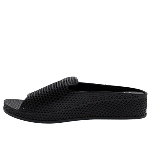 A Tacco Scarpe Sandaloi Zeppa Viva Donna Nero Perforato Basso Aperta Punta t5nFxOCqx1