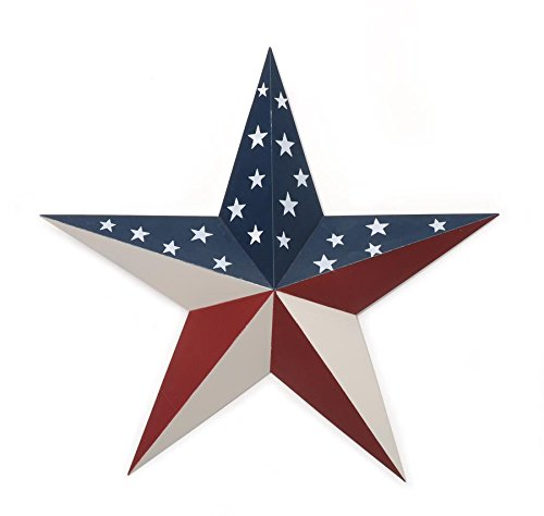 (Darice Americana Flag Pattern Tin Star, 18