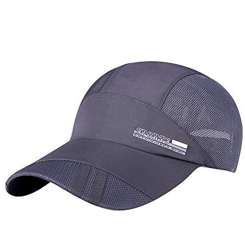 Unisex Classic Twill Mesh Hat Adjustable Baseball Hat Breathable Simplicity Hip Hop Hat Gray