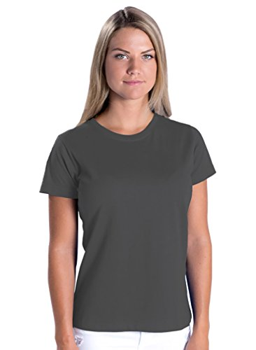 Cashmere Jersey T-shirt (LAT Apparel Ladies 100% Cotton Fine Jersey Tee [2X Large] Charcoal Gray Short Sleeve T-Shirt)
