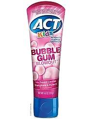 Act Kids Bubblegum Blowout Toothpaste, 4.6 Ounce