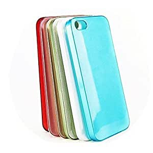 Coloured Glaze Drawing Hard Case for iPhone5/5S (Assorted Color) , Red