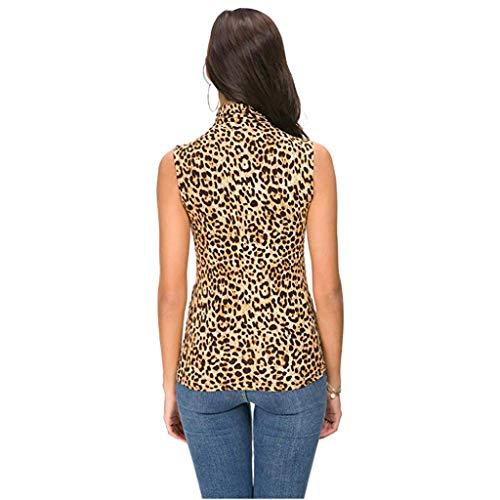 Top Sin Chaqueta Cisne Blusa B Mangas Cuello Impreso Para Camiseta Fit Slim Mujer Mujer De Vest Chaleco mujer wqZXIqO