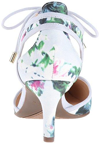 Franco Sarto Womens Darlis Dress Pump Blue Floral xSZrE2Q
