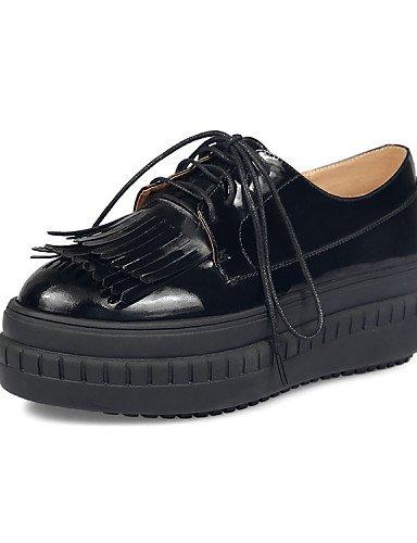 White Mujer mocasines cuero Njx Eu35 Cn34 Cn39 Zapatos Uk3 Eu39 us8 negro Redonda plataforma punta Black De Uk6 Hug us5 Blanco exterior WttH1z7