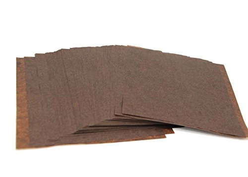 Mannily Food Grade Tissue Paper Food Basket Liners - Brown Color - 200 Square Sheets 8.66'' x 8.66''