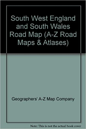 A Z Map Of England.South West England And South Wales Road Map A Z Road Maps Atlases
