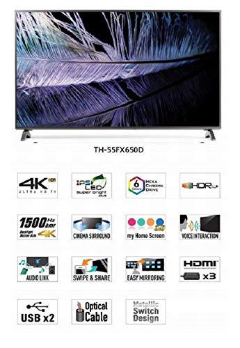 Panasonic 138 cm 55 Inches 4K UHD LED Smart TV TH 55FX650D Gray 2018 model