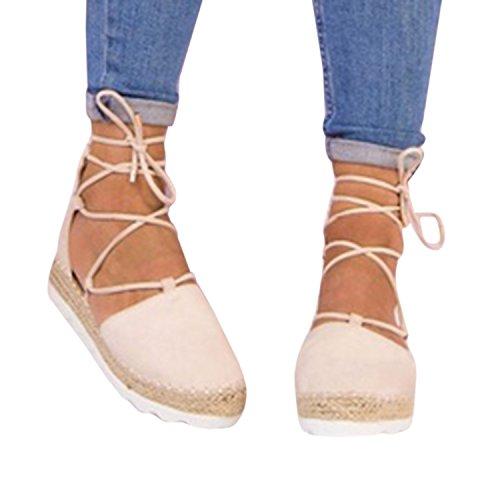 Rosa Gemijacka Riemen 5 Schuhe Sommer Flache Klassischen Damen Niet Knöchel Schnalle Ausgeschnitten Espadrilles Binden Sandale q6w6rtH