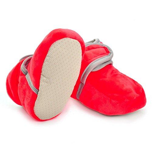 Igemy 1Paar Neugeboren Säugling Baby Jungen Mädchen Solide Krippe Schuhe Soft Sole Anti-Rutsch Stiefel Rot