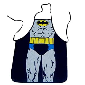 """Justice League Batman (Kids/Young Adult Petite) Superhero Character Kitchen BBQ Apron with Gift Box (Size: 22"""" Width x 28"""" Length)"""