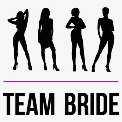 Sudadera con capucha de mujer Team Bride Hotties by Shirtcity Blanco