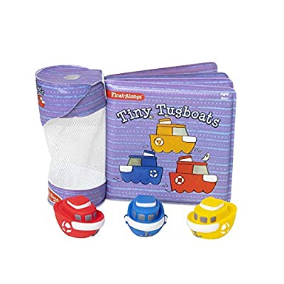 Melissa & Doug Children's Book - Float-Alongs: Tiny Tugboats (Bath Book + 3 Floating Tugboat Toys, Great Gift for Girls and Boys - Best for Babies and Toddlers, 4, 5, 9 Month Olds, 1 and 2 Year Olds): Toys & Games
