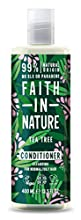 Faith in Nature Acondicionador Natural de Árbol del Té, Purificante, Vegano y No Testado en Animales, sin Parabenos ni SLS, para Cabello de Normal a Graso, 400 ml