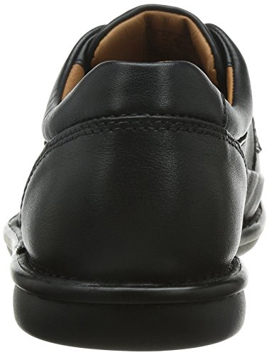 Butleigh Edge Wide Fit - Tan Leather, Nero (Black Leather), 8 UK