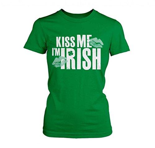 FreshRags Kiss Me I'm Irish St Patricks Day Jr Fit T-Shirt XL (Boondock Saints St Patricks Day T Shirt)