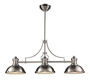 ELK Lighting 66125-3 Chadwick 3-Light Billiard Light, 21-Inch, Satin Nickel