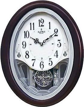 Rhythm Clocks Flor Musical Motion Clock 4MJ435WU07