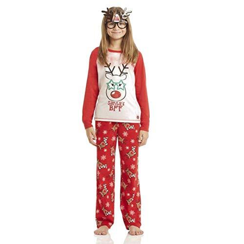 bambino notte Wongfon genitore pezzo Abbigliamento cervi Natale Natale Home 2 stampati set cucitura da pigiama indumenti Bambini 5H4ZHxn